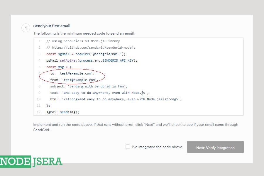 Node js tutorial   Sending email using sendgrid's API and